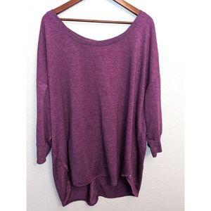 Purple sweatshirt top yoga running lifting